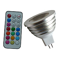 4W GU5.3(MR16) תאורת ספוט לד MR16 1PCS לד בכוח גבוה lm RGB עמעום / עובד עם שלט רחוק / דקורטיבי DC 12 / AC 12 V חלק 1