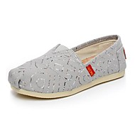 Women's Spring / Fall Round Toe Canvas Casual Flat Heel Sequin / Slip-on Gray / Navy