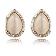 Women's Alloy Stud Earrings With Opal/Rhinestone(More Color)