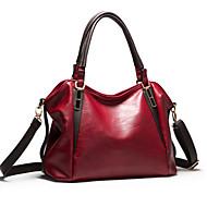 נשים PU רשמי / קז'ואל / משרד וקריירה / קניות תיק צד / תיק נשיאה כחול / חום / אדום / שחור / בורדו