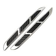 univerzális autós ABS króm styling matricák szimuláció szellőzők dekoratív cápa kopoltyúk hosszúkás outlet oldalsó nyílásokon