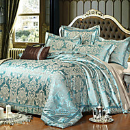 jacquard de lux bumbac mătase king size queen 4 buc set lenjerie de pat pernă plapumă textile coverhome pilotă acopere foaie plat
