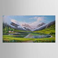 pintura al óleo del paisaje pintado a mano con marco de estirado