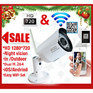 720PH.264 Wireless IPCamera email alarmP2P ONVIF  IR-Cut Night Vision MotionDetection Waterproof