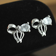 Women's Earring of 2015 New Brand Hot Crystal Cubic Zironia Stud Brincos