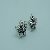 Men's Titanium Five Star Earrings One Pcs