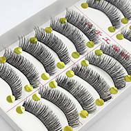 10 Pairs High Quality Natural Long Black False Eyelashes Handmade Soft Thick Fake Lashes Makeup Eyelashes Extensions