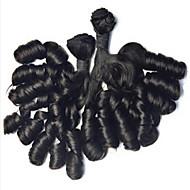 "3pcs/lot Brazilian Hair Curly #1B 10"" ~ 34"" Hair Weaves"