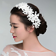 Korean Style Lace Floral Wedding/Party Headpieces/Flowers with Crystals with Imitation Pearls