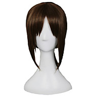 Angelaicos Women Attack On Titan Yumir Short Ponytail Dark Brown Natural Looking Halloween Cosplay Party Full Wig