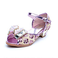 Girl's Sandals Spring / Summer Comfort Synthetic Dress / Casual Bowknot Purple / Gold