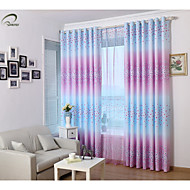 Country Curtains® One Panel Purple Floral Print Curtain