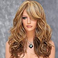 mode naturlige gyldne bølger af syntetisk hår af høj kvalitet