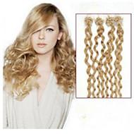 1pc / lot 20 polegadas / 50 centímetros multicolors extensão do cabelo micro anel encaracolado grade5a 100s extensão do cabelo humano /