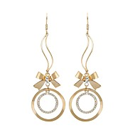 PEROY Women's/Unisex Stainless Steel/Brass Drop Earrings With Diamond