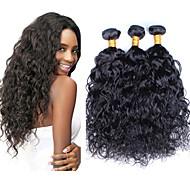 Az emberi haj sző Perui haj Hullám 12 hónap 3 darab haj sző