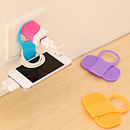 Mini Foldable Wall Charging Holder Cradle Support (Random Color)