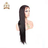 """10 """"26"""" glueless volle Spitzeperücke gerade peruanische reine Haarfarbe # 2 dunkelbraun Babyhaar für schwarze Frauen"""