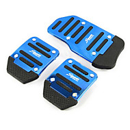 Aluminum Skid Car Accelerator Pedal Brake Pedal Pedals Suitable For Manual Car (Assorted Colors)