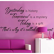 Ontem é história decalques de parede casa decoração zooyoo8138 decorativos de parede vinil removível para automóveis