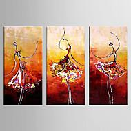 Pintados à mão PaisagemModerno 3 Painéis Tela Pintura a Óleo For Decoração para casa