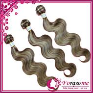 "3pcs / lot 16 ""-24"" brazilian human hair extensions mix kleur 8/613 lichaam wave menselijk haar weave 100g / bundel"