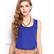 Mulheres Malha Íntima Casual Plus Sizes / Simples / Boho / Fofo / Moda de Rua Verão,SólidoAzul / Rosa / Vermelho / Branco / Bege / Preto
