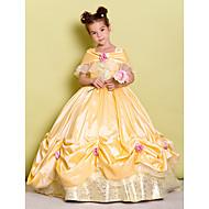 Ball Gown Floor-length Flower Girl Dress - Taffeta