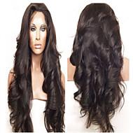 Wavy Front Lace Human Hair Wigs  Brazilian Virgin Hair Cheap Wigs 130% Density