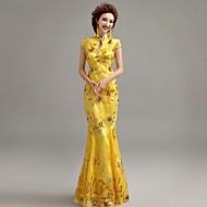 Formal Evening Dress Trumpet/Mermaid High Neck Floor-length Lace Dress