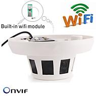 Motion Detection/Dobbeltstrømspumpe/Fjernadgang/IR-klip/Wi-Fi Beskyttet Setup/Plug and play Kuppel - Innendørs - IP-kamera