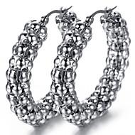 Stainless Steel Ladies Stud Earrings Set, 2pcs,Silver, KE890