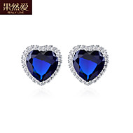 Stud Earrings Women's Brass Earring Cubic Zirconia
