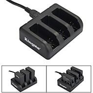 Kingma caricatore a 3 slot batteria per AHDBT-201 / AHDBT-301 / AHDBT-401 / eroe GoPro 3 / 3+ / 4 - nero