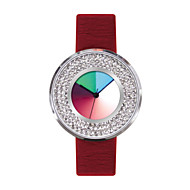 Time2u Rainbow Ladies' Creative  Watch Leather Waterproof Silicone Quartz Watch