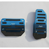 Aluminum Skid Car Accelerator Pedal Brake Pedal Apply To Automatic Transmission Cars (Assorted Colors)