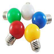 5kpl 1w e27 5xsmd2835 100-150lm väri pallo kupla lamppu led-lamput (satunnainen väri)