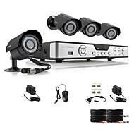 Zmodo 4 CH Key DVR 4 Outdoor 600TVL Nappal Éjszaka CCTV Home Security Camera System