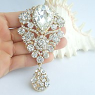 Wedding Accessories Wedding Deco Gold-tone Clear Rhinestone Crystal Bridal Brooch Bridal Bouquet Bridal Jewelry