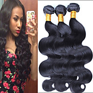"3 Pcs/Lot 8""-24"" Brazilian Virgin Hair Natural Black Body Wave Raw Unprocessed Human Hair Extensions Bundles"