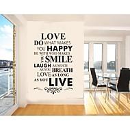 Worte & Zitate Wand-Sticker Flugzeug-Wand Sticker Dekorative Wand Sticker,PVC Stoff Abziehbar Haus Dekoration Wandtattoo