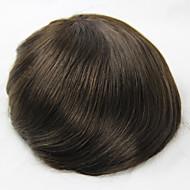 6 inches Human Hair Toupee Wig 7x9 Hair Pieces Mono Base For Men's Toupee
