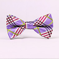 Purple Plaid Bow Ties