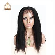 """10 """"26"""" glueless volle Spitzeperücke verworrene gerade peruanische reine Haarfarbe # 1B natürliche schwarze Babyhaar für schwarze Frauen"""