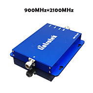 3G W-CDMA 2100MHz + 2G GSM 900Mhz Dual Band Mobile Phone Signal Booster 900 2100 Cell Phone Signal Repeater Amplifier