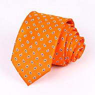 עניבות - משובץ (לבן/אפור כהה/תפוז , משי)