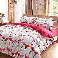 Flamingo Duvet Cover Sets 100 Cotton Queen King