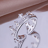 Lovely Crown Shape Silver Plated Ring(Silver)(1Pc)