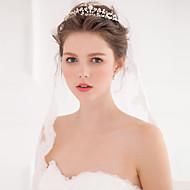 Bergkristal/Licht Metaal/Imitatie Parel Vrouwen Helm Bruiloft/Speciale gelegenheden Tiara's/Hoofdbanden Bruiloft/Speciale gelegenheden1