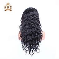 """10 """"26"""" glueless volle Spitzeperücke der natürlichen Welle brasilianisches reines Haar Farbe # 1b natürliche schwarze Babyhaar für"""
